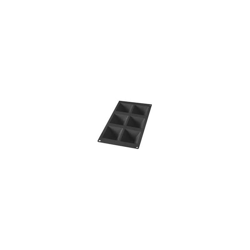 stampo piramide silicone 6pt. nero