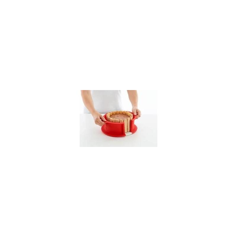 tortiera apribile in silicone con piatto ceramica