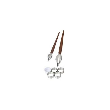 set decorazione 7 pz. patissier