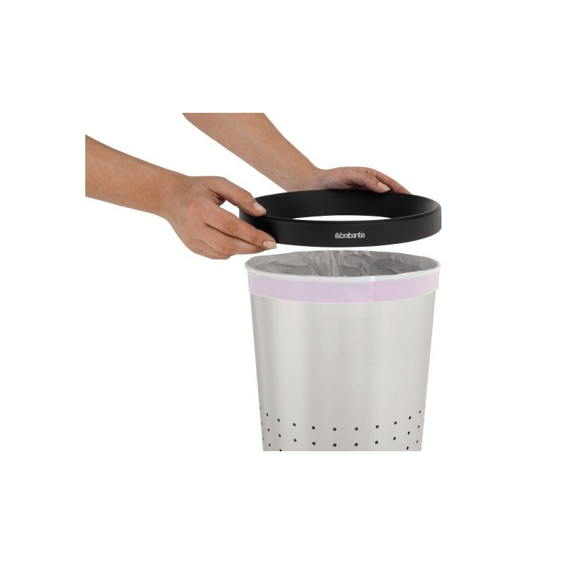 Paper Bin 11L Conical Inox Satinato 364341