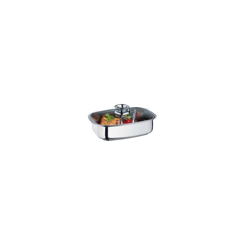 casseruola c/coperchio in vetro e griglia