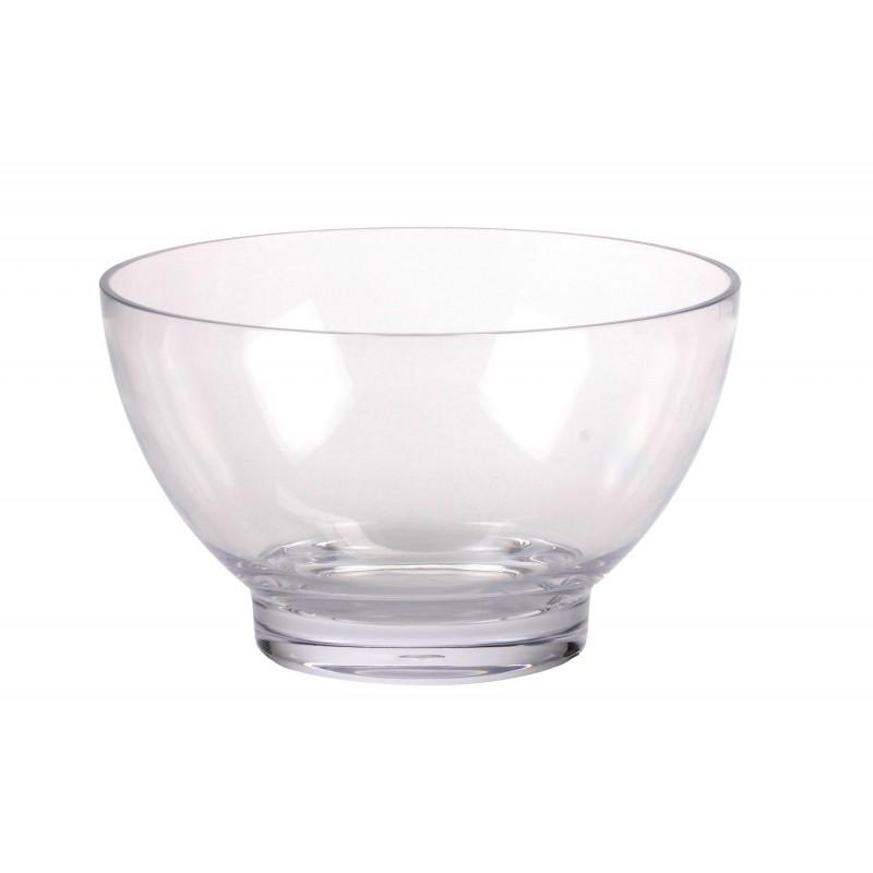 Insalatiera 26 cm. trasparente in plexiglass Sheratonn