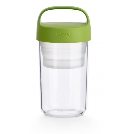 Lékué Barattolo to go, Plastica 600 ml Verde
