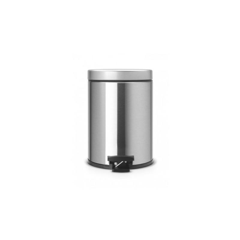 Pattumiera Pedal Bin Classic 5L, anti-impronte Inox Satinato FPP 369544