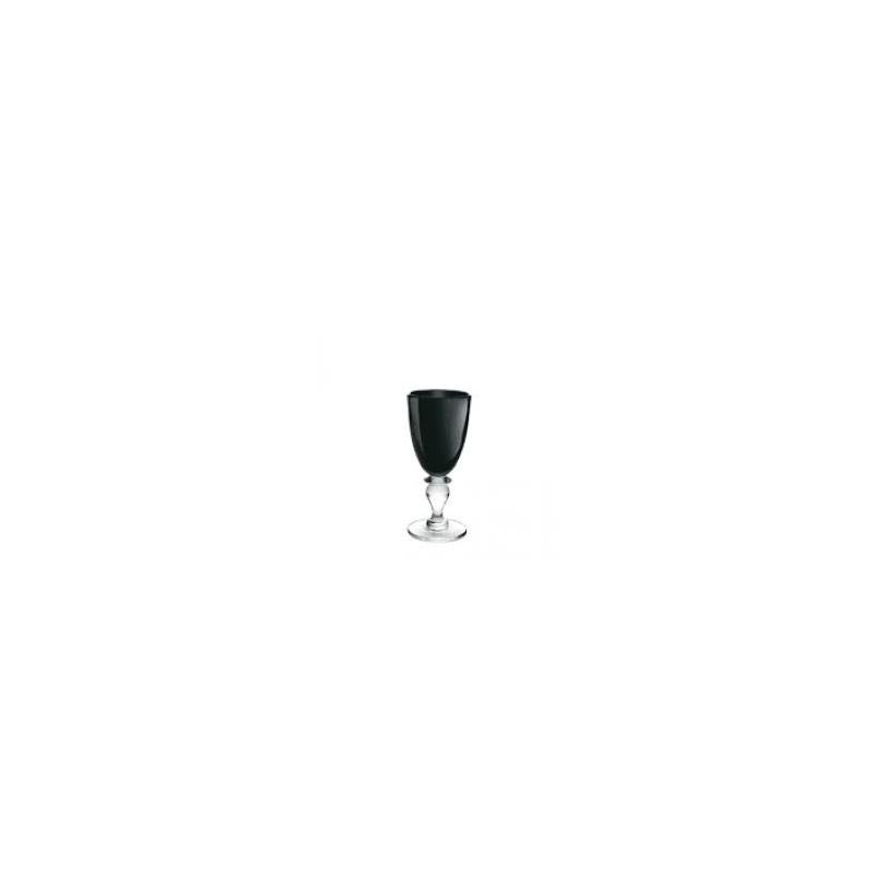 bicchiere in vetro colorato zara nero