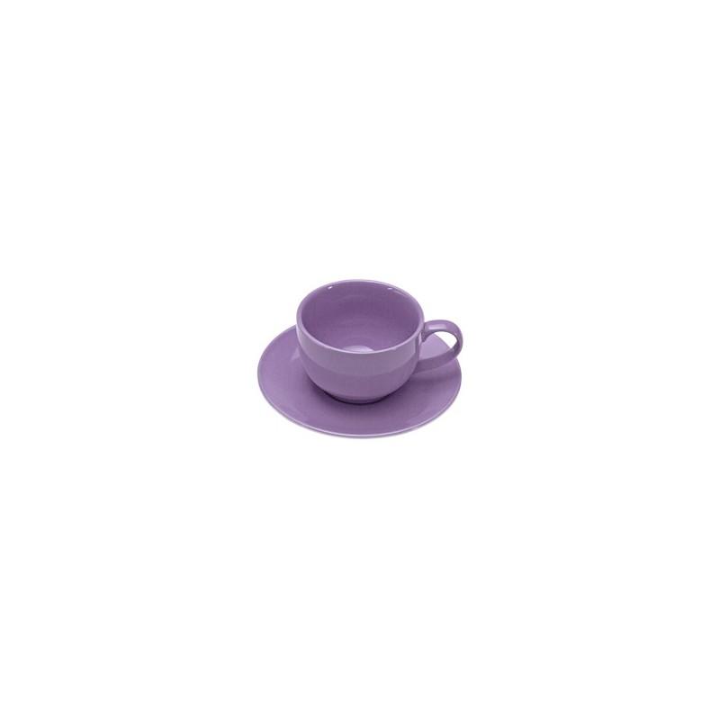 tazza colazione c/piattino colours