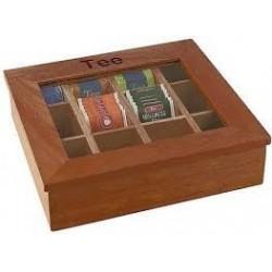 scatola porta the in legno
