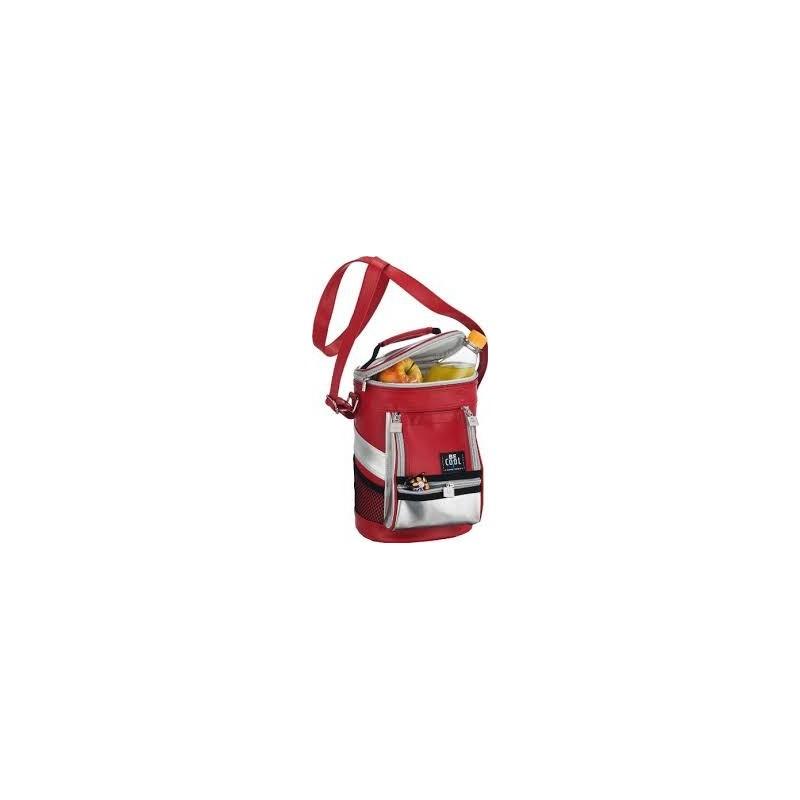 borsa termica tracolla rosso/arg. t744